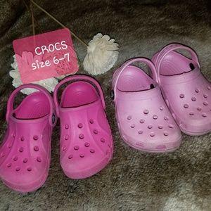 Crocs girls size 6-7 small girl